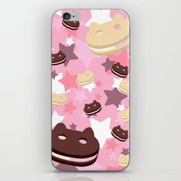 He left his family behind! Cookie Cat! iPhone Skin