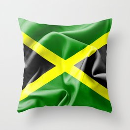 Jamaica Flag Throw Pillow