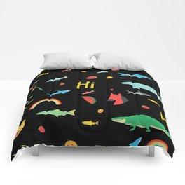 All Together Black Comforters