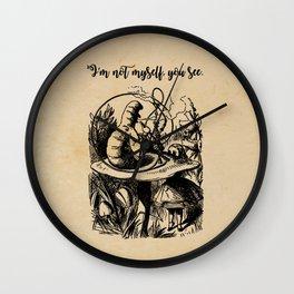 Not Myself - Lewis Carroll - Alice in Wonderland Wall Clock