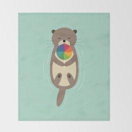 Sweet Otter Throw Blanket
