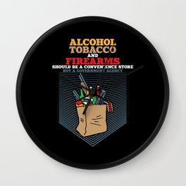Alcohol Tobacco and Firearms Wall Clock