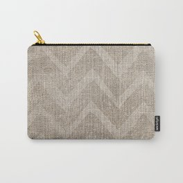 Chevron burlap (Hessian series 1 of 3) Carry-All Pouch