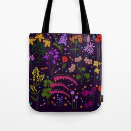 Flowers and insects Tote Bag