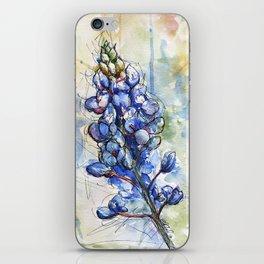 Spring Watercolor Texas Bluebonnet Flowers iPhone Skin