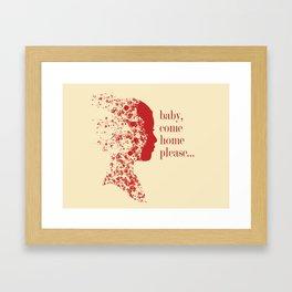 Please, baby... Framed Art Print