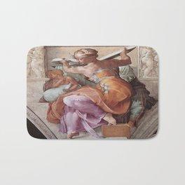 The Libyan Sybil Sistine Chapel Ceiling by Michelangelo Bath Mat