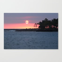 Kona Sunset Canvas Print