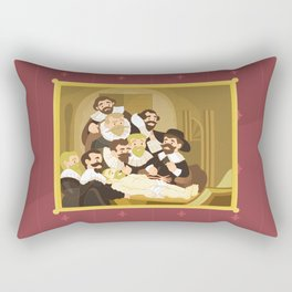 The Anatomy Lesson by Rembrandt Rectangular Pillow