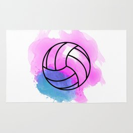 Volleyball Watercolor Rug