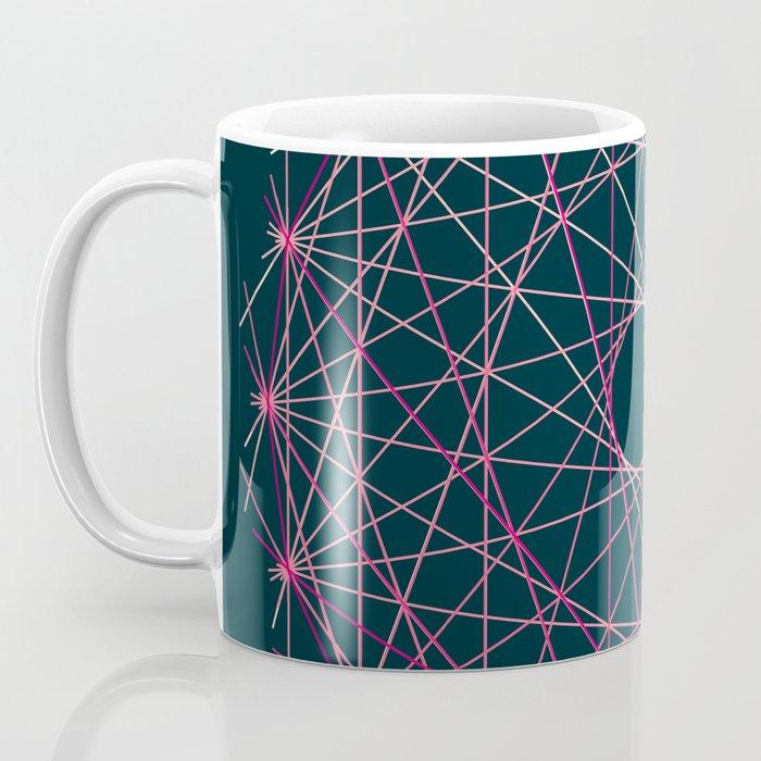 Red Threads in Blue Coffee Mug