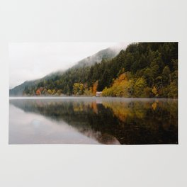 Lake Crescent in the Fall Rug