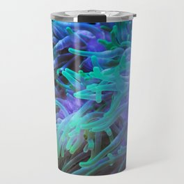 Sea anemone on a black background Travel Mug