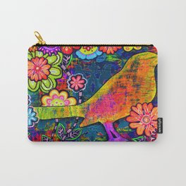 'SAFE HAVEN' Mixed Media Collage Pop Art Carry-All Pouch