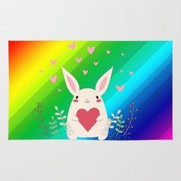 Rainbow Bunny Rug