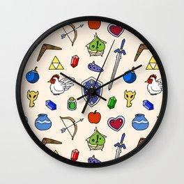 Zelda pattern Wall Clock