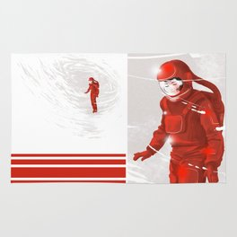 Hiroko in Storm // (astronaut girl) Rug
