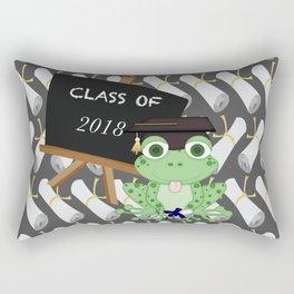 Graduations Diplomas Class of 2018 Frog Rectangular Pillow