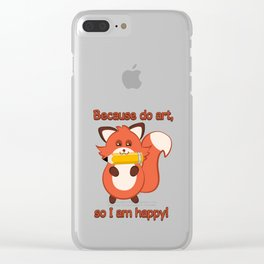 Commisions | foxy artist Clear iPhone Case