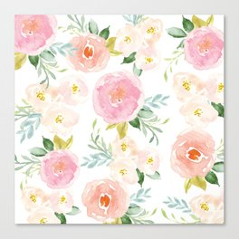 Floral 02 - Medium Flowers Canvas Print