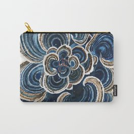Blue Trametes Mushroom Carry-All Pouch