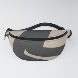Neutral Abstract 4B Fanny Pack