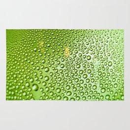 Green water drops Rug