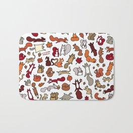 Squirrels in Fall Doodle Bath Mat