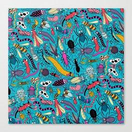 Bug Pattern Canvas Print