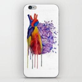 Heart vs. Mind iPhone Skin