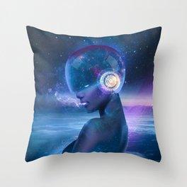 Spacemaiden Throw Pillow