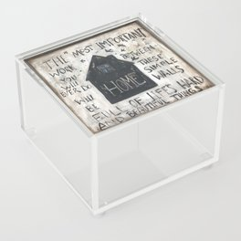 Home between these walls Acrylic Box