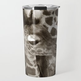 Baby Giraffe and Mother Travel Mug
