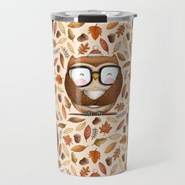 Seamless Owl Pattern Travel Mug