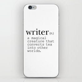 Writer Definition Converts Tea iPhone Skin