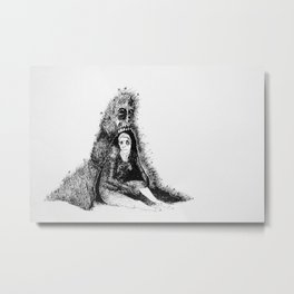 Noncomittal Relationship Metal Print