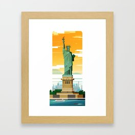 Libertas - The Statue of Liberty Framed Art Print