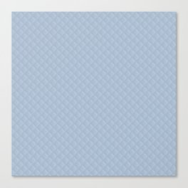Powder Blue Stitched and Quilted Pattern Canvas Print
