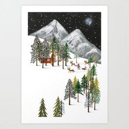Winter Adventure Art Print