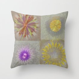 Anticapitalistically Combination Flower  ID:16165-030023-59450 Throw Pillow