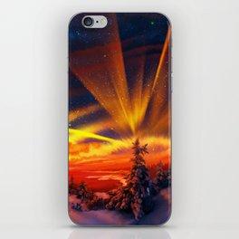 Orange Christmas iPhone Skin