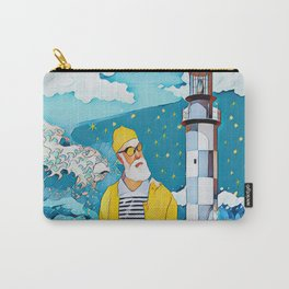 Sailorman and lighthouse Carry-All Pouch