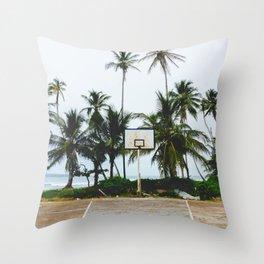 Basketball on Isla Bastimento, Bocas del Toro, Panama Throw Pillow