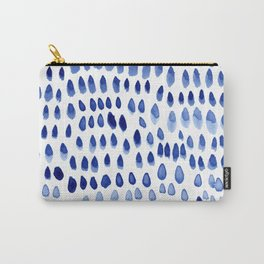painted dots blue Carry-All Pouch