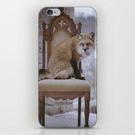 Fox on a Throne iPhone Skin