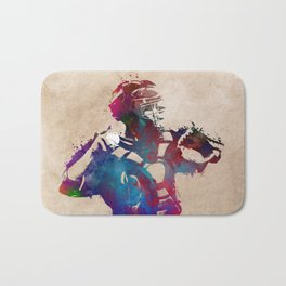 Baseball player 1 #baseball #sport Bath Mat