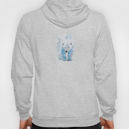 Geometric Polar Bear Hoody