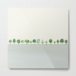 A Row Of Trees Metal Print