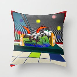 Prawn Dance Throw Pillow