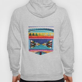 Rainbow Tribal Embroidery Hoody